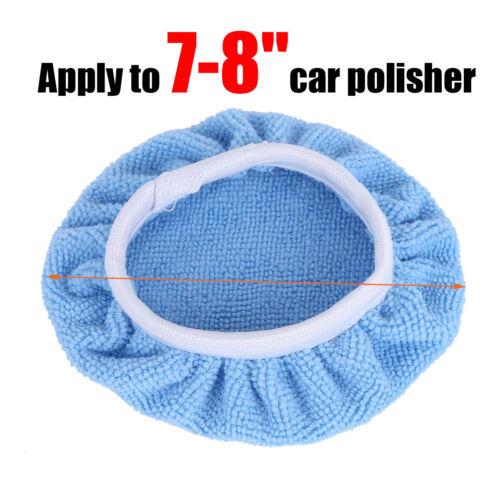 5 Car Auto Microfiber Bonnet Buffing Wheel 5-10in Pad Waxing Polishing Polisher