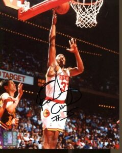 Earl Cureton Signed Photo 8x10 Autographed Rockets 35403