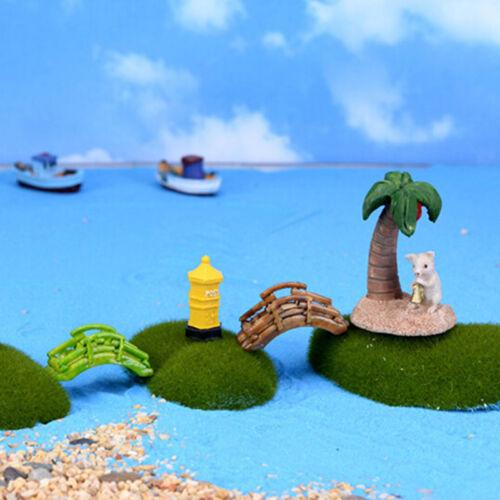Miniatur Puppenhaus Bonsai Handwerk Garten Ornament für Blumentopf Fairy Garden