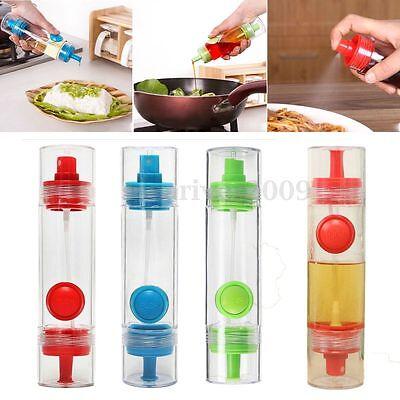 2 in 1 Kitchen BBQ Condiment Oil Soy Sauce Vinegar Spray Bottle Cruet Dispenser