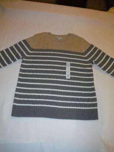 Long Sleeve Crewneck Cable Sweaters XXL,XL,L,Croft /& Barrow 100/% cotton NWT