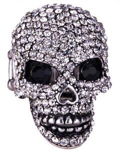 Skull brooch pin biker gothic punk bling fashion jewelry gifts QBD07 ... 28f2f317abdb