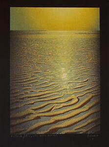 Daniel-SCIORA-Estampe-originale-Lithographie-La-Plage