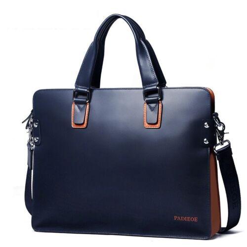 Genuine Leather Men Business Briefcase Luxury Designer Bag Messenger Laptop Bags