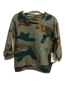NWT-Mini-Munster-Toddler-Boys-Sweatshirt-Size-12-18-Months-Camo-Print