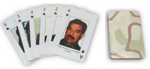 """/"""" Irak Plupart Wanted Jeu de Cartes Saddam Hussein Personality Indentification"""