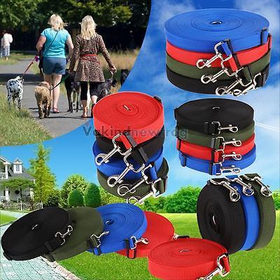 Durable 10m 15m 20m 30m 50m Long Dog Pet Puppy Rope Training Lead Leash Chain