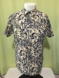Tori-Richard-Men-s-Beige-Floral-Hawaiian-Shirt-Size-Small-Cotton-Lawn