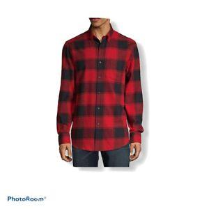 L Mens Long Sleeve Button Plaid JC183 XL NWT St John/'s Bay Flannel Shirt XXL