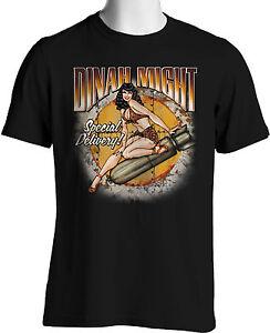 Dinah Might Retro T Shirts Ww Ii Bomber Nose Art Classic