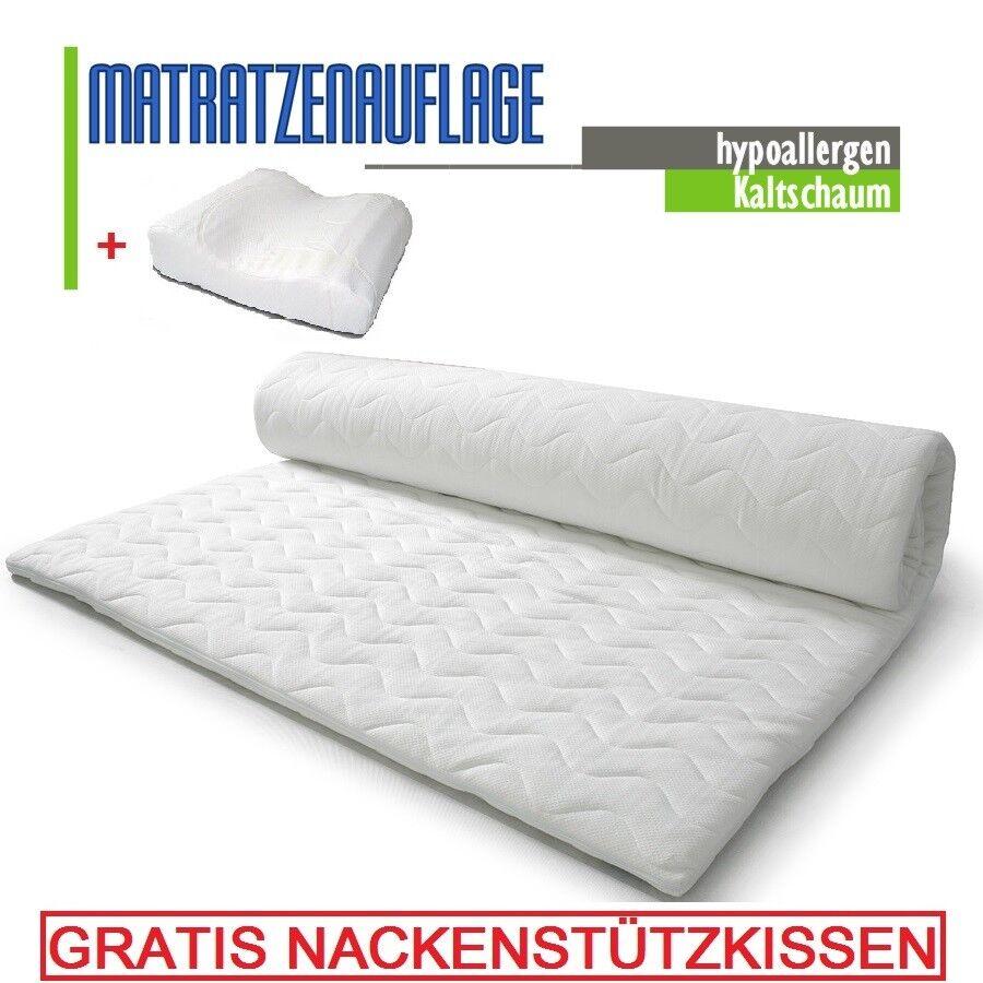 Matratzenauflage KALTSCHAUM 180 x 200 Höhe 6 cm Matratzenschoner Topper Auflage
