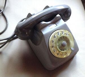 Telefono-Vintage-SIP-anni-60-ORIGINALE-grigio-Modernariato-Ottimo-Funzionante-039-039