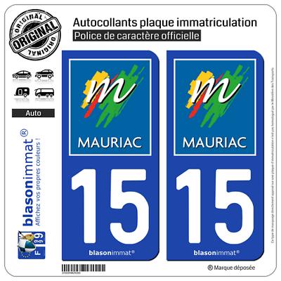 Redelijk 2 Stickers Autocollant Plaque Immatriculation Auto : 15 Mauriac - Ville