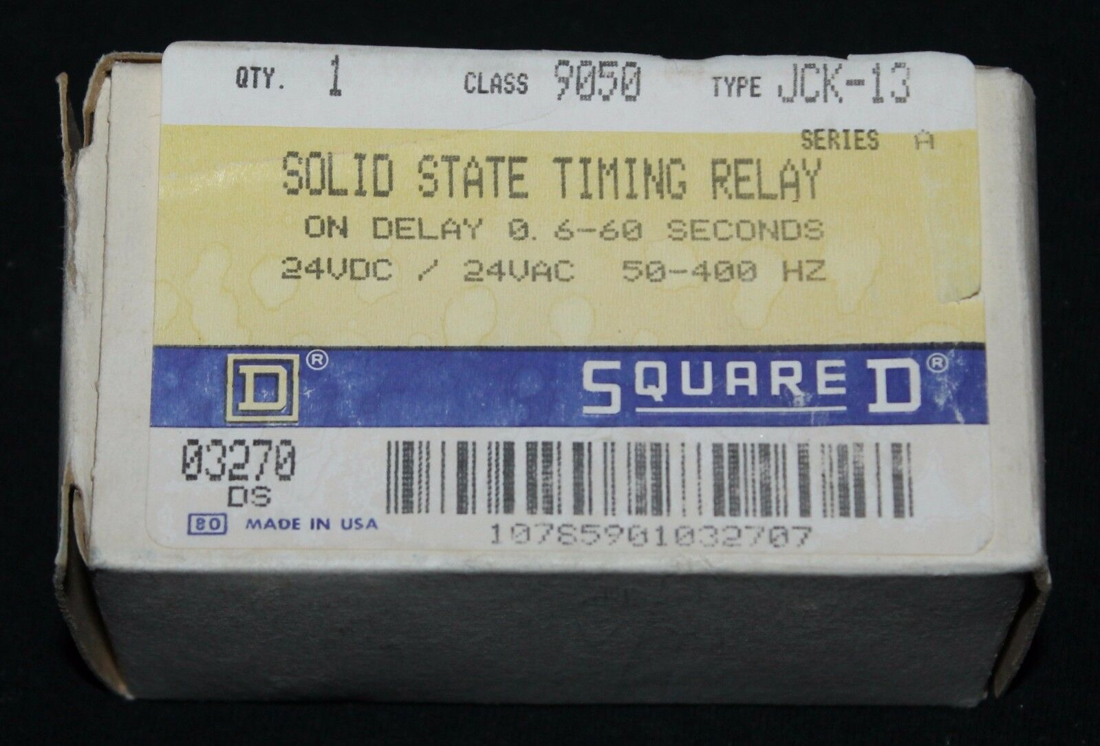Square D 9050 Jck 13 Solid State Timing Relay 6 60 Second 24vac Spdt 5v Norton Secured Powered By Verisign