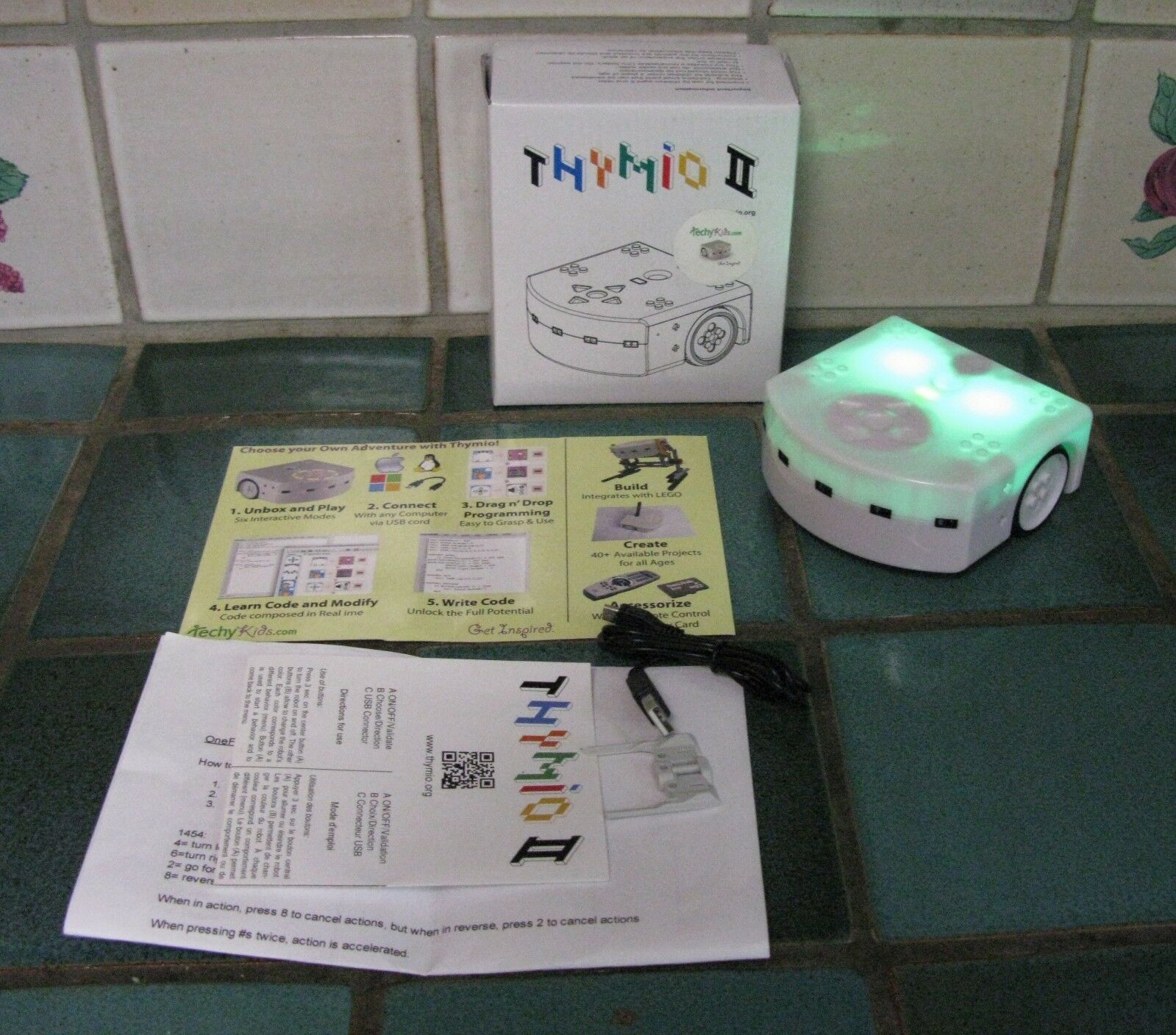 EDUCATIONAL WIRELESS ROBOT THYMIO II (WORKS WITH LEGOS ) ) ) 8bfea9