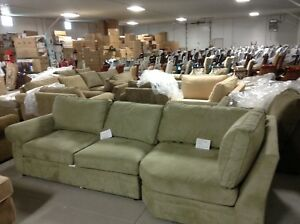 Pottery Barn Pearce Couch Sofa Sectional Jade Stone Left