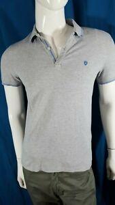 CELIO-Taille-M-superbe-polo-manches-courtes-gris-et-bleu-homme