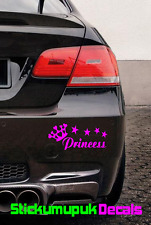 Princess Car Bumper / Window or laptop sticker Vinyl Decal Choice of 15colours