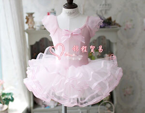 Girls-Dance-Wear-Ballet-Tutu-Dress-Skate-Dress-Party-Dress-3-4-5-6-7-Years-UK