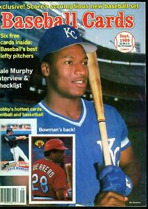 Sept-1989-Baseball-Cards-Magazine-with-6-insert-cards-Norm-Charlton-Rookie