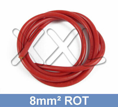 1m 2,5mm² Silikonkabel Silikonlitze SCHWARZ Silikon Kabel Litze 2,5mm 2,5qmm