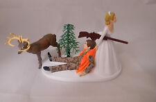 Wedding Reception Party Brown Camo Rifle Gun Deer Hunter Hunting Cake Topper