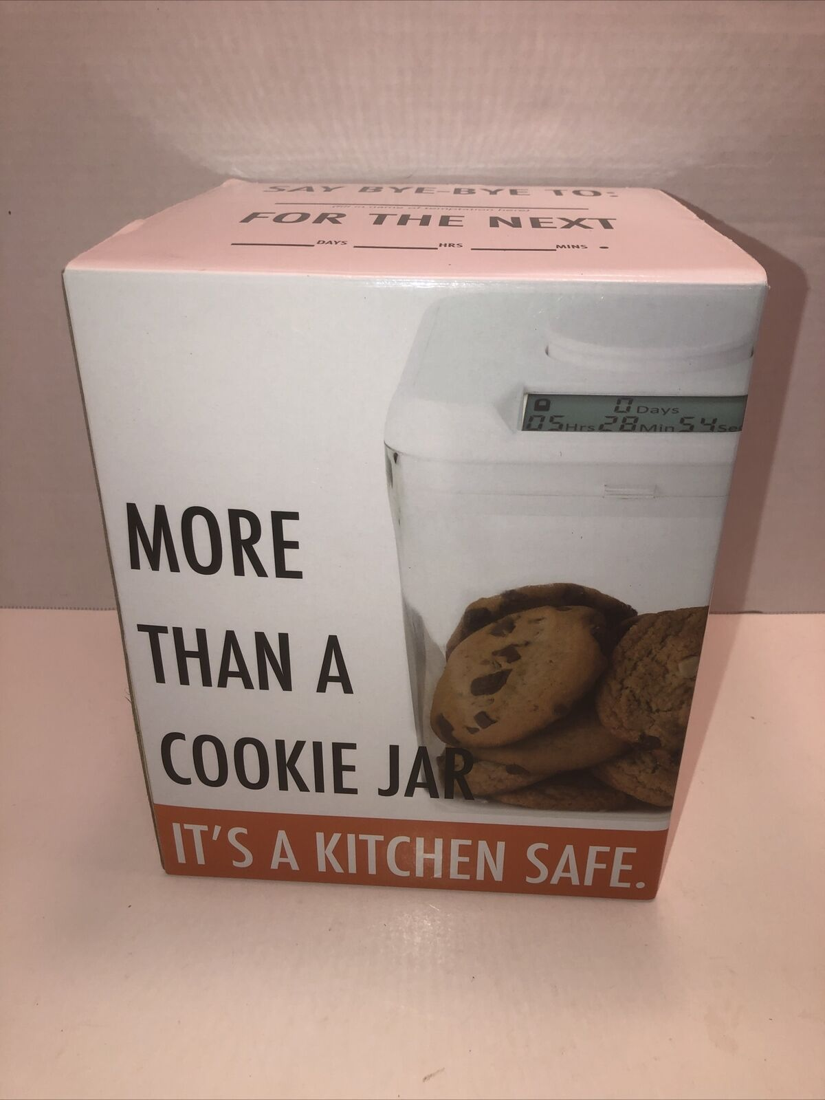 Original Kitchen Safe Time Locking Container White Lid Clear Base 3 5 Qt For Sale Online Ebay