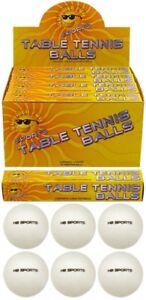 6-X-BIANCO-TINTA-UNITA-LOGO-gratuita-tavola-di-qualita-speciale-palline-da-tennis-40mm-NUOVO