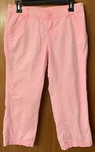Womens-Maurices-Pink-Casual-Light-Capri-Pant-Size-3-4