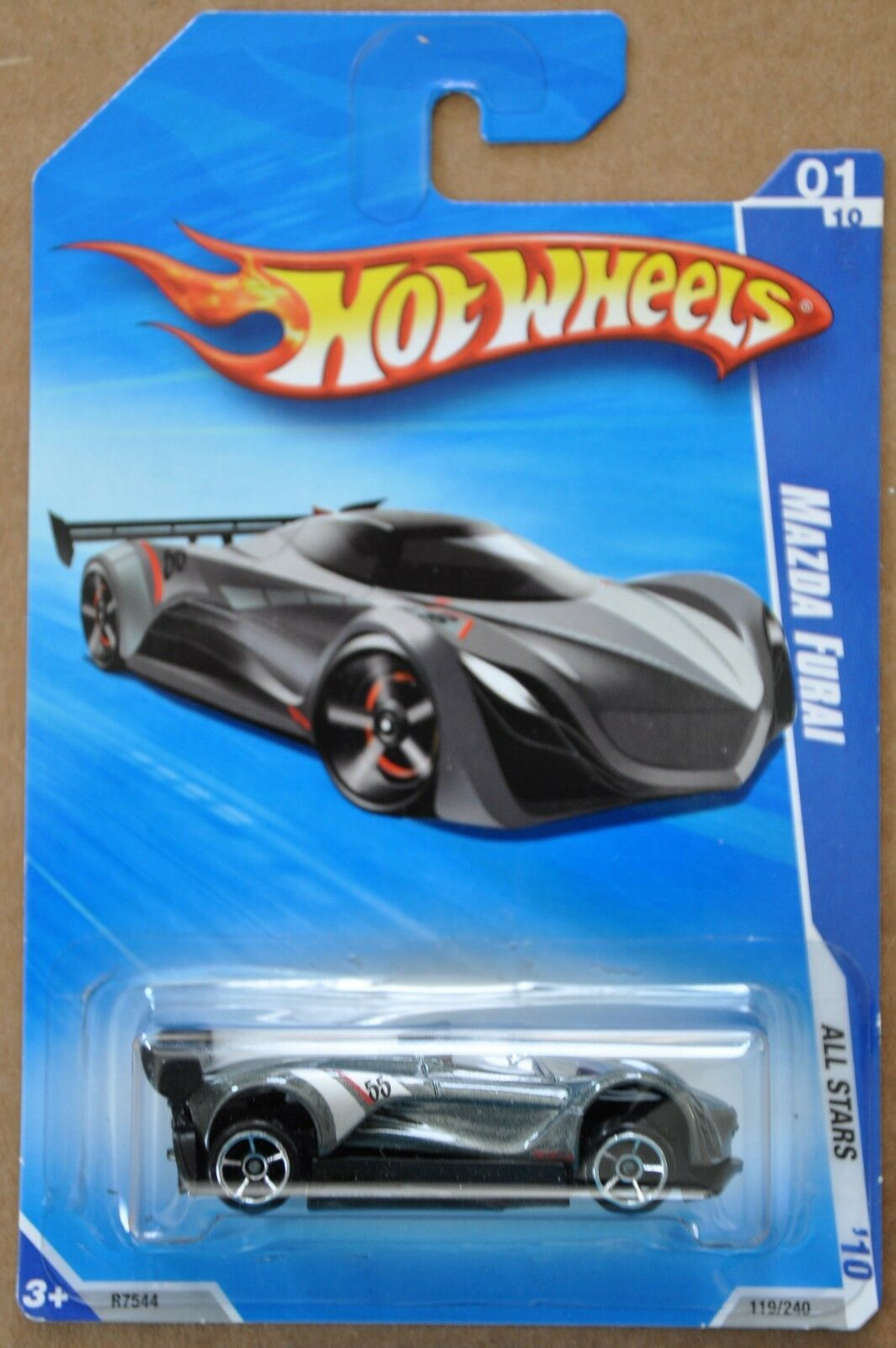 2010 Hot Wheels Mazda Furai 119 240 All Stars 1 10 ERROR MISALIGNED BASE
