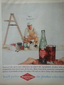 1959-Royal-Crown-RC-Cola-Soda-Handsome-Painter-Ladder-Paint-Cans-Original-Ad