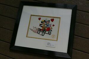 Mickey and Minnie Nifty Nineties VINTAGE DISNEY Framed Serigraph Sericel