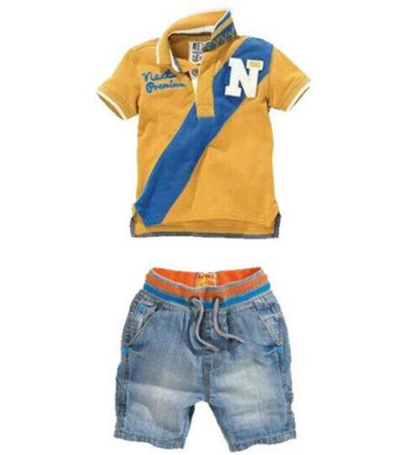 Denim Pants Kids Summer Casual Clothes Sets 2pcs Kids Boys Short Sleeve T-Shirt