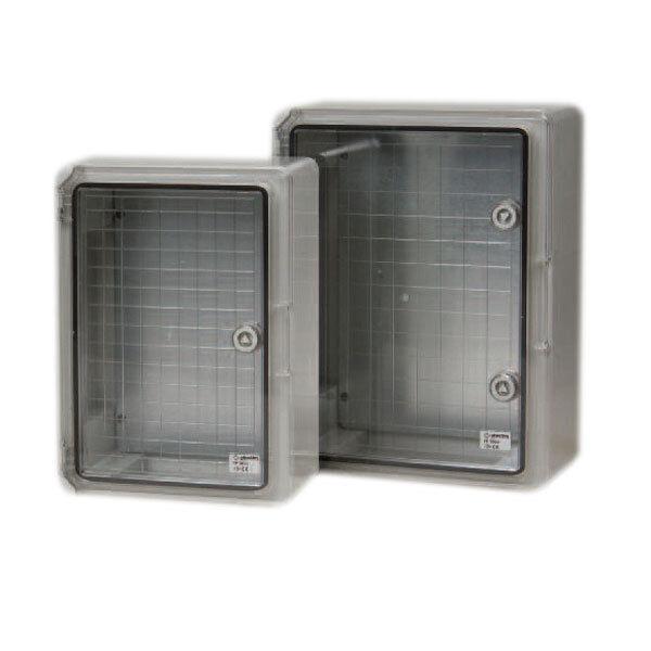 Boîtier en plastique transparent Porte hylec 30x40x17cm boîte cas cas cas projet voir à travers bf2fb4