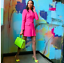 ZARA-PINK-BELTED-FROCK-COAT-WITH-FLAP-POCKETS-HIDDEN-SNAP-BUTTON-2217-349 thumbnail 1