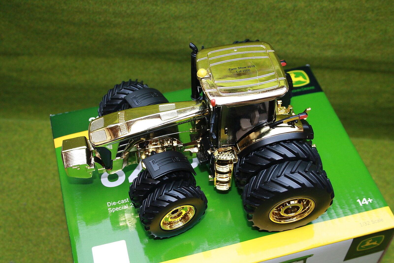 BRITAINS  John DEERE 8270 r jumeaux pneus avant et arrière en or avec boîte