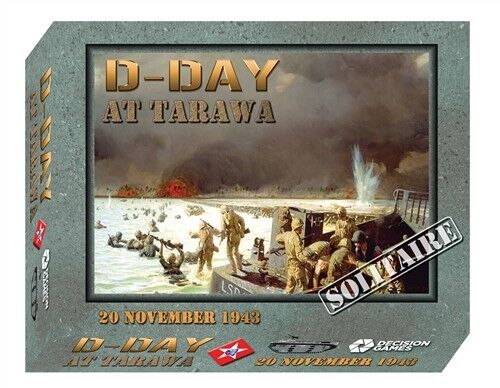D -DAY på Tarawa, Solitaire Warspel Ny genom beslut spel, English DAMAGE låda