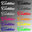 4x Cadillac Door Handle Sticker Decal Escalade STS DTS CTS SRX