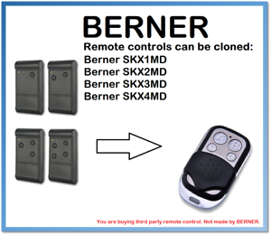 Berner SKX1MD,SKX1MD,SKX1MD,SKX1MD Fernbedienung Duplikator 4-Channel 433MHz