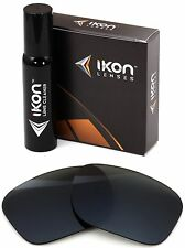 Polarized IKON Replacement Lenses For Oakley Catalyst Sunglasses - Black
