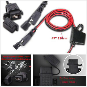 universal 2 1a waterproof car motorcycle sae to usb. Black Bedroom Furniture Sets. Home Design Ideas