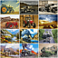 Tractor Train Car Scenery Canvas Picture Oil DIY Paint Set by Numbers Kits Decor