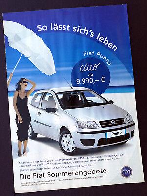 """2004 Strong-Willed Prospekt """"die Fiat Sommerangebote"""" Diverse Modelle Neu Din A4 8 Seiten"""