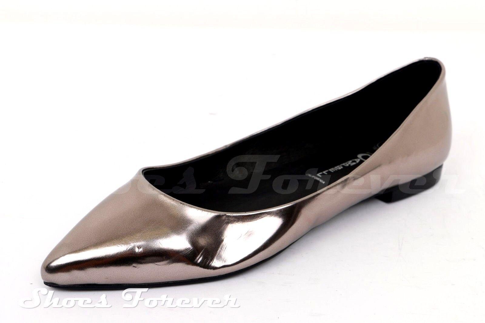 Damenschuhe JEFFREY 7 CAMPBELL pewter Metallic Ballet Flats Sz. 7 JEFFREY b8547f
