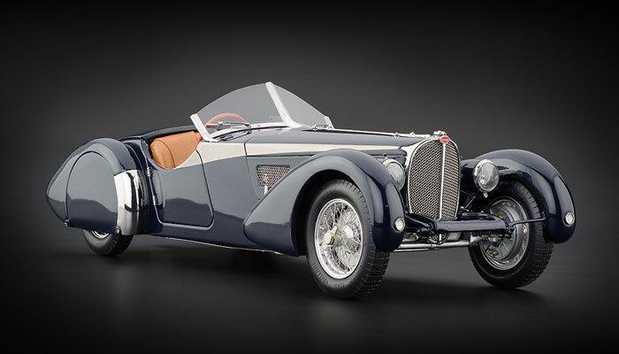 Bugatti T57 SC Corsica Roadster  Dark azul  1938 (CMC 1 18   M-106)