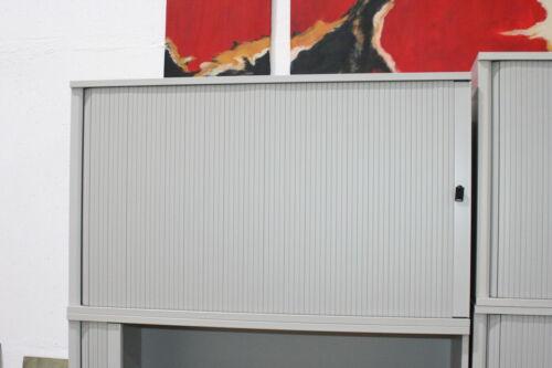 Griffleiste Steelcase Büromöbel Sideboard Schrank kristallgrau Querrolllade