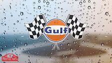 Gulf twin flag window sticker 150 mm wide - Officially licensed Gulf merchandise