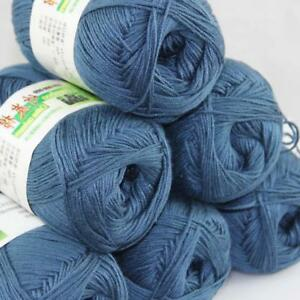 Sale New 3 Skeinsx 50g Soft Bamboo Cotton Baby Hand Knit  Shawls Crochet Yarn 16