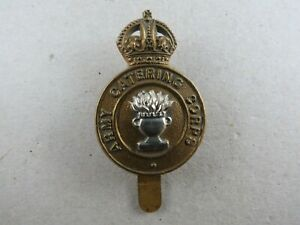 Military-Bi-Metal-Cap-Badge-K-C-Army-Catering-Corps-British-Army