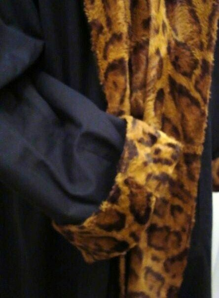 Mabrun Mantel Wendemantel Animal Print & Popeline schw. Ital.Design VK TOPP
